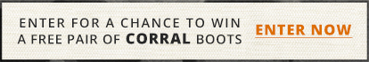 Enter for a chance to win a free pair of Corral boots - enter now
