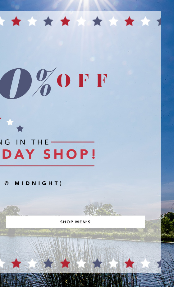 Take 20% Off On Men's