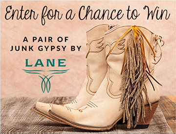 Enter for a chance to win a pair of Junk Gypsy by Lane