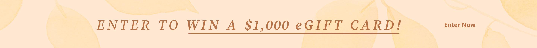 $1,000 eGift Card Giveaway