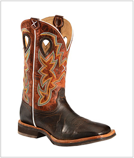 Men's Twisted X Horseman Cowboy Boots - Square Toe