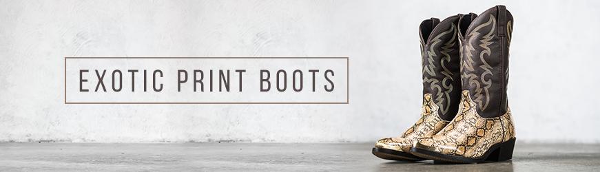 Exotic Print Boots